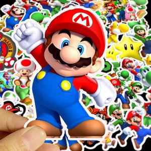 50pcs Süper Mario Sticker DIY Su geçirmez Sticker Bagaj Mobil Bilgisayar Kaykay Gitar Buzdolabı Çıkartmaları Çocuklar Oyuncak Çıkartma