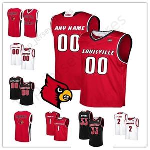 Özel NCAA Louisville 35 Darrell Griffith 24 Dwayne Sutton Christen Cunningham Beyaz Siyah Kırmızı 2019 Koleji Basketbol Jersey Erkekler Gençlik Kid