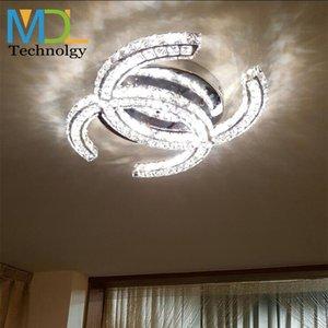 Lámparas de cristal LED 15W 18W 35W 48W Luces colgantes de techo Moderno K9 Lámparas colgantes para sala de estar Comedor