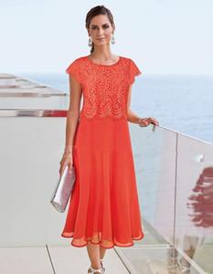 Gelin gelinlik Beach Düğün Dantel Aplike Anneler Resmi Giyim Custom Made Plus Size Akşam Parti Abiye Of Çay Boyu Anne