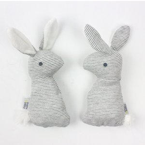 Lovely Baby Rattle Toys Animal Cute Rabbit Hand Bells Plush Toys Baby Playing Gift Christmas Plush Bunny Doll Kids Rattle Toy M2030