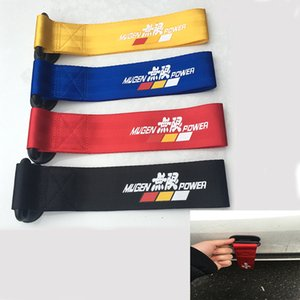 Towing Ropes Mugen Universal High Quality Racing Car Tow Strap Tow Ropes Hook Towing Bars With Sticker Easy Install