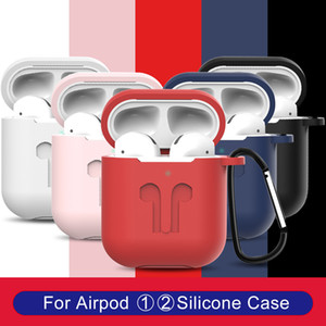 핫 판매 에어 팟 보호 Airpods 커버 블루투스 무선 이어폰 실리콘 케이스 방수 안티 - 드롭 스트랩 액세서리