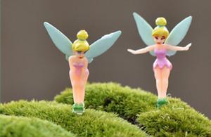 LIVRE dos desenhos animados da fada Figurines Fairy Garden Miniatures gnomos Princesa poeira do duende Miniature Fada estatueta Mini Jardim Resina Artesanato