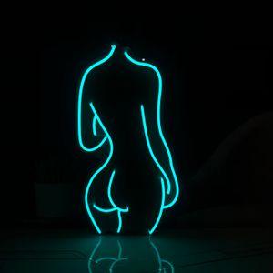 Kadın şekil dekorasyon çubuğu işareti gece kulübü çoklu renk 12v özel neon işareti