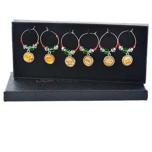 Harz anhänger ohrringe ringe schneeflocke modellierung wein marker charms anhänger weihnachten thema weine glas kennzeichnung kreative 12 6td l1