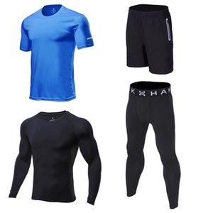 trainning ejercicio conjunto de jogging 2020 de los hombres corriendo conjuntos de juego de los deportes de compresión rápida gimnasio de fitness de yoga seca trotar ropa deportiva