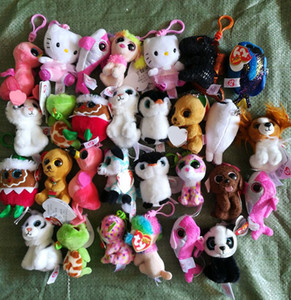 Ty Beanies Keychains Ty Beanie Плюшевые игрушки Подвески Боос Большие глаза Сова Unicorn Плюшевые игрушки Мягкие игрушки Куклы Z0481