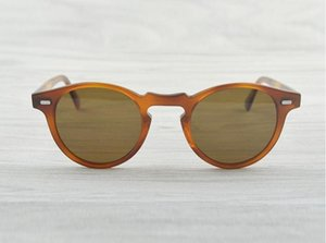 Gregory Peck hombres de la marca de 45 mm 47mm Diseñador mujeres Gafas de sol Oliver pueblos de la vendimia gafas de sol polarizadas OV5186 retro vidrios de Sun OV 5186