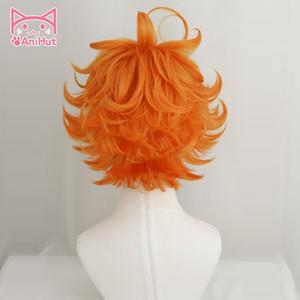 Wholesale-Anihut Emma Cosplay Wig Anime Yakusoku no Neverland Women Orange Cosplay Wig 63194 The Promised Neverland Emma