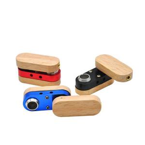 Pliant Pipe en bois Pipes main portable pliable fumeur multicolore double couche tuyau extérieur petit fumeur Accessoires LXL783-1