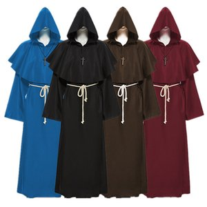 Priest Cosplay Carnival Medieval Halloween Costume for Women Men Party Monk Witch Disguise Clothing Hoddies Christian Ancient