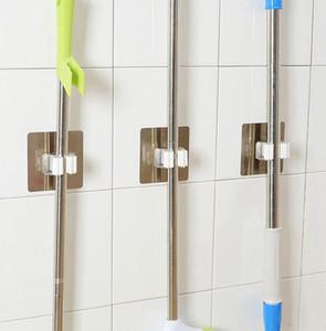 Wall Mounted Mop Organizador suporte de escova vassoura cabide para guardar porta- ferramentas da cozinha gancho Racks Cozinha Casa de Banho Organizador KKA7893