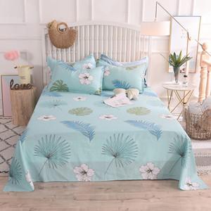 Lenzuolo per lenzuola piane in cotone forcheer stampato morbido per letto singolo matrimoniale 1PC Materasso in lino