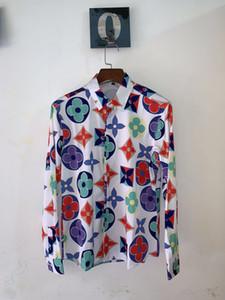 New Fashion Designer Slim Fit Shirts 3D Print Shirt Men Traditional African Men Shirt Long Sleeve Slim Fit Casual Mens Dress Shirts