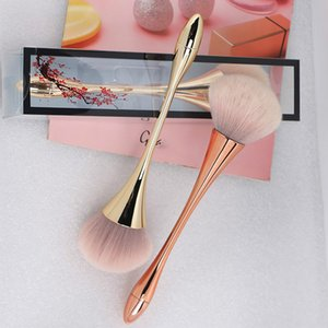 Skin Care Tools Gold Foundation Powder Blush Brush Professional Make Up Brush Tool Set Cosmetic Very Soft Big Size Face Makeup Brushes