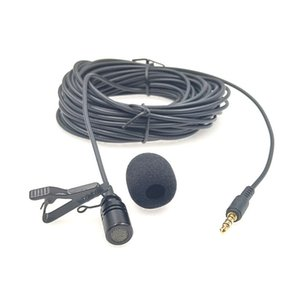 Cheap Microphones 10m Extended Cable Lavalier Microphone Outdoor Live broadcasting Microphone Collar Clip Mic for Amplifier Mobile Phone