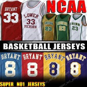 824 33 Bryant di pallacanestro del NCAA Jersey 32 Johnson maglie Abdul Jabbar Jersey LeBron James 23 maglie Liceo Jersey