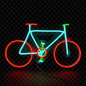 Red Sky Verde Blu Bike Segno Bike Sign bici Shop Bar Club casa decorazione della parete di neon luce 12 V Super Bright