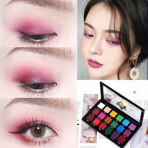 18 Colors Glitter Eyeshadow Pallete Nude Matte Eye Shadow Powder Waterproof Mineral Pigment Eyes Cosmetics Makeup Palette