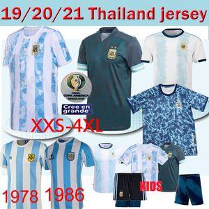 20 21 Argentina de fútbol Jersey retro Maradona 86 Classic Vintage Retro 1978 Argentina 78 camisetas de fútbol Maillot Camisetas de Futbol Tailandia