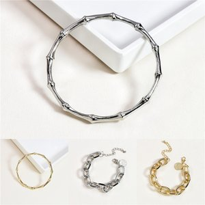 Trendy Gold Metal Coin Heart Bracelets For Women Punk Big Link Chain Pearls Statement Bracelet Bangles Party Hand Accessories#585