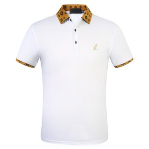 Italy polo shirt t shirts 2020 Polos snake bee floral embroidery mens polos High street fashion stripe print polo T-shirt 03
