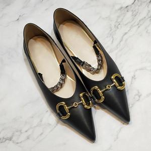 Nouvelle arrivée femmes chaussures de mode design en cuir véritable chaussures de luxe chaussures élégantes pointues Flats robe orteil modèle taille 35-40 35-40