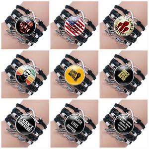 Las ventas calientes que no pueden respirar pulseras de cadena tejida a mano pulsera NEGRO VIDAS independientemente de la hora joya partido de la pulsera T9I00409 favor