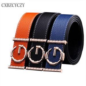 Luxury Belts for Women Men Brand Designer Belts Women High Quality leather Men Jeans Female male belt Silver Buckle