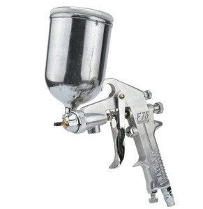 2019 nuevo 400 ML Professional Gravity Feed mini Spray Gun Kit de uñas con aerógrafo Acero inoxidable 1.5 mm Boquilla Auto Cars Pintura Pintura pulverizador