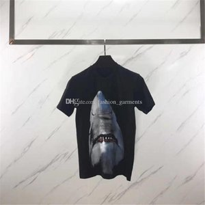 Luxury Mens Designer T Shirt Men Short Sleeve 3D Animal Shark Print T Shirt Women Camisa Masculina Designer T Shirt