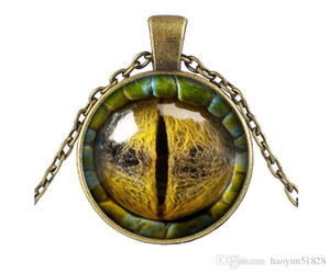 Dragon Eye Necklace Pendant Colorful Eye Pendant Glass Cabochon Dome Necklaces Jewelry Bestselling New