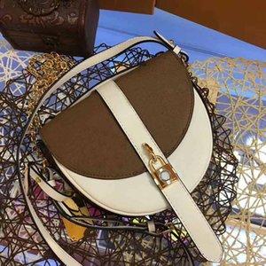 concepteur sac à main de luxe porte-monnaie L fleur véritable sac de bourse de selle en cuir de style demi-sacs à main de concepteur de femmes de lune femme sac à main