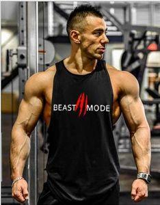 2019 GYM VEST WINER marca ropa culturismo Фитнес hombres camiseta entrenamiento bestia impresión chaleco Стрингер ropa deportiva camiseta