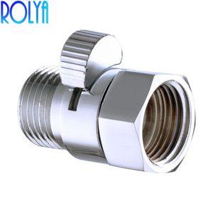스위치 오프 Rolya 샤워 Pressue 빠른 물 제어 밸브 G1 / 2 황동 셧