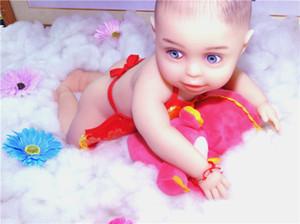 """18 """"/ 46cm 3.2kg / 7.1lb Full Body Solid Silicone Baby Reborn Baby Boy Doll"""