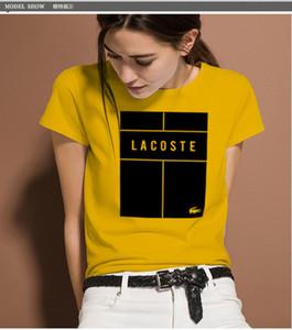 2019 Bayan Tasarımcı T Shirt Mektubu Baskılı Kısa Kollu Tee Yaz Siyah Beyaz Nefes Marka Tişörtleri için Asya Boyutu