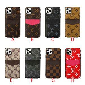 el caso del diseño de marca de teléfono móvil con tapa abatible superior e inferior con múltiples ranuras de tarjeta para el iPhone 11 11Pro máximo Xr X X max 7 8 7plus 8plus