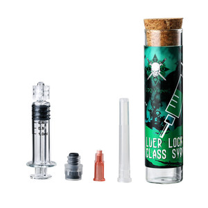 Luer Lock Glass Syringe 2ml 1ml injector Original LTQ Vapor with measurement mark tip needle fit vape cartridges e cigarette Filling Tool
