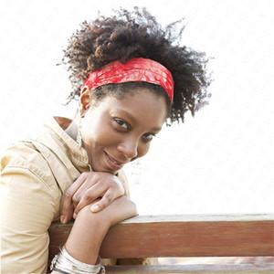 Йога диапазона волос Tie-краситель Cotton Printed Elastic оголовье Галстуки Женщины Девушки Марка Цветы Hairbands Ретро головные уборы Тюрбан головной убор D62906