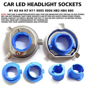 Sockets titular LED Car base bulbo grampo de retenção Adaptador para H1 H3 H4 H7 H11 9005 9006 HB3 HB4 880 Headlight especial em nossa loja