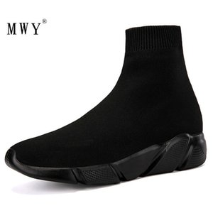 MWY Elastic Casual Socks Shoes Version Of The Thick Sneakers Shoes Outdoor Footwear Woman Flats Female Loafers Chaussure Femme CJ191220