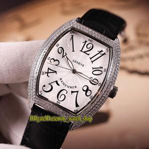 NEUE MODELLE Cintree CURVEX REMEMBER 7880 B SC AT REM Weiß Dial Automatik Herren-Uhr-silbrige Diamant-Kasten Lederband Sportuhren