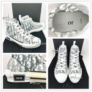 С коробкой Díor Oblique Homme X KàWS By Kìm Jones b23 B23 Men Women Fashion Designres Triple S Повседневная обувь высокие кроссовки ботинки для скейтборда