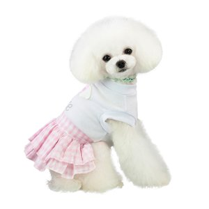 New Pet Spring And Summer Love Heart Print Skirt Dog Costumes Pet Dog Cartoon Clothes For Small Dog Cloth Dress Apparel