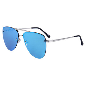 Rimless Sunglasses with metal frame Fashionable mens toad mirror cycling baseball hexagonal hexagonal flat lenses womens coach men glasses