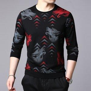 mens 2019 vêtements de marque de luxe automne manches longues mens t-shirt de designer de mode t-shirt décontracté décontracté style chinois col rond haut