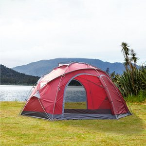 multi-person large tent outdoor climbing park fishing grassland yurt canopy tent 1room with big space for 5-8persons
