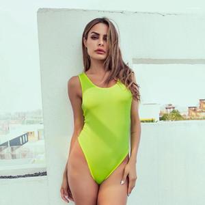 Designer fluorescente Cor macacões sexy aberto magro Roupa Street Style Shorts Night Club macacãozinho Womens Verão